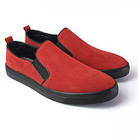 Слипоны мокасины красные нубук женская обувь Sei stupenda BS Red Nub by Rosso Avangard, фото 1