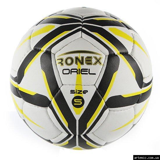 Мяч футбольный Grippy Ronex ORIEL, желто-черный