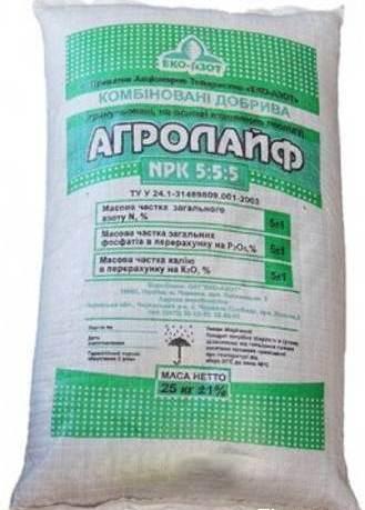 Минеральное удобрение АГРОЛАЙФ 5*5*5, 25кг