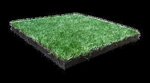 Гумова плитка-трава PuzzleGym Sport 500х500 мм (20 мм ворс)