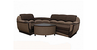 Угловой диван Garnitur.plus Мадрид коричневый 250 см DP-350, КОД: 181503