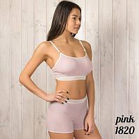 Комплект белья женский: топ и шорты 1820pink