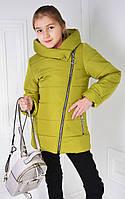 """Демисезонная куртка на девочку подростка  """"Виолетта""""  оливковый"""