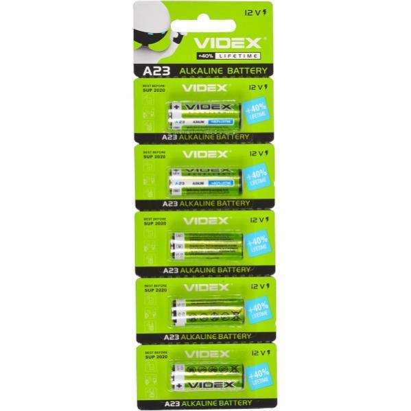 Батарейка Videx 23 A «мини бочонок»     V-291529