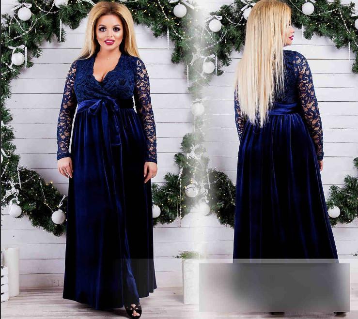 """Шикарное вечернее женское платье в пол """"гипюр"""" 50, 52, 54, 58 размер батал"""