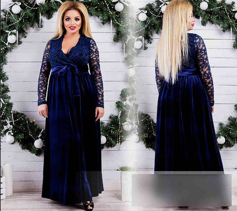 """Шикарное вечернее женское платье в пол """"гипюр"""" 50, 52, 54, 58 размер батал, фото 2"""
