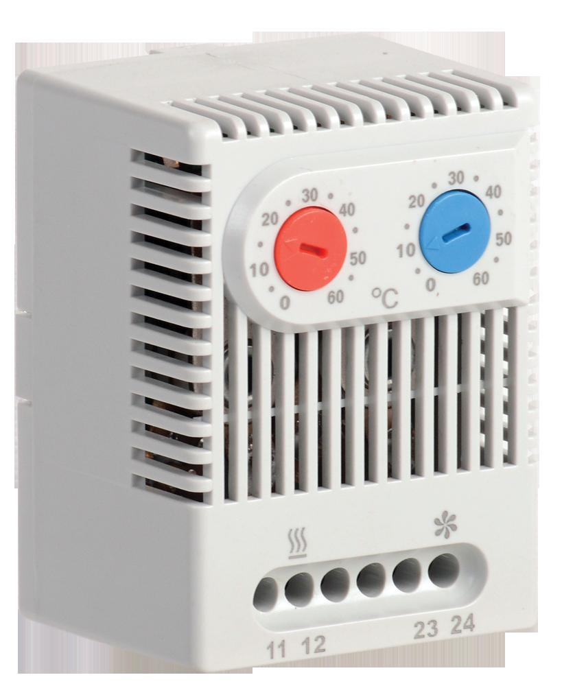 Термостат двухканальный  от 0 до +60°C NO+NC IEK (YCE-DTNO-NC-60)