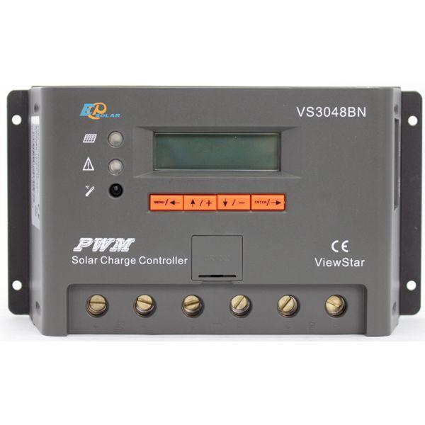 EPsolar(EPEVER) Контроллер, ШИМ 30А 12/24/36/48В  с дисплеем, (VS3048BN), EPsolar(EPEVER)