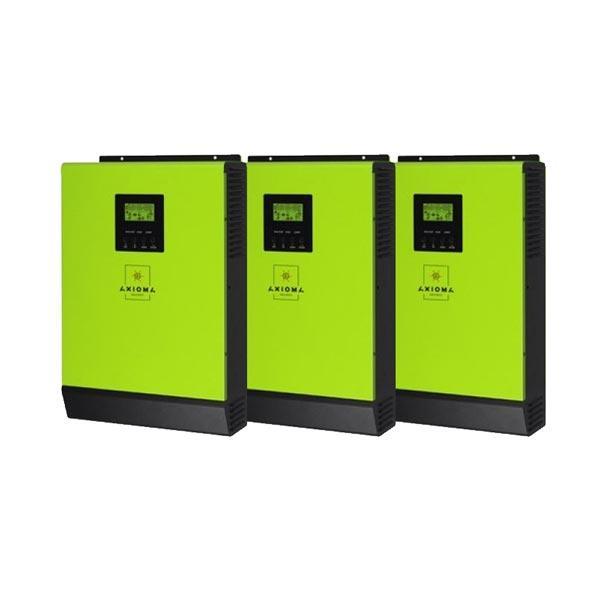 AXIOMA energy Сетевой солнечный инвертор с резервной функцией 12кВт, 220В,   ( ISGRID 4000 - 3 шт. в параллель), AXIOMA energy