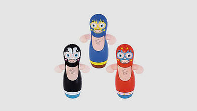 Надувная игрушка неваляшка для боксирования. Bestway 52193. Ниндзя - боксер.