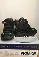 Ботинки зимние для мальчика PRIMIGI черные с салатовым WICK-E