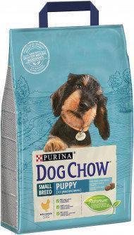 Сухой корм Dog Chow Puppy Small Breed для щенков мелких пород с курицей, 2,5 кг