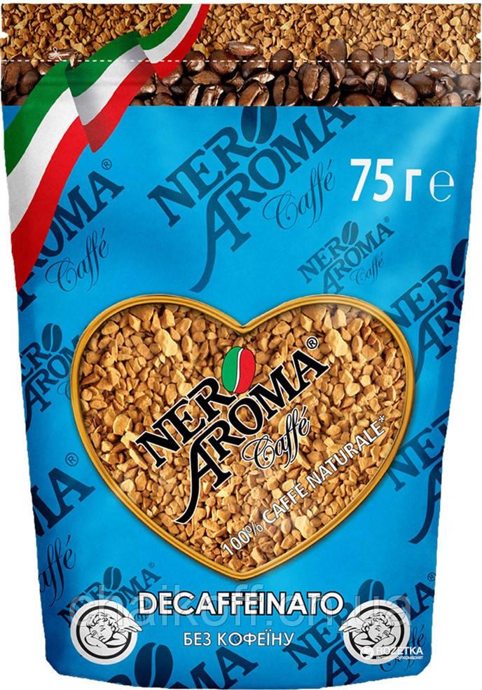 Кофе растворимый Nero Aroma 100% арабика 75 г (без кофеина)