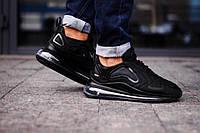 Мужские кроссовки в стиле Nike Air Max 720 Black (Реплика ААА+), фото 1