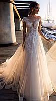 Свадебное платье цветы легкое