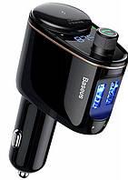 FM-трансмиттер BASEUS Locomotive Bluetooth MP3 (2USB, 2.4A+1A) black