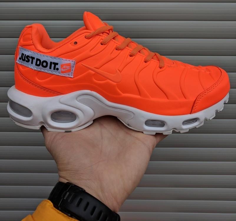 online retailer c5375 da47f Мужские кроссовки Nike Air Max Tn Plus Just Do It Pack Orange. Живое фото  (Реплика ААА+)