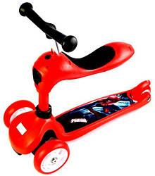 Трехколесный самокат-трансформер 2 в 1. Scale Sports. Disney. Red