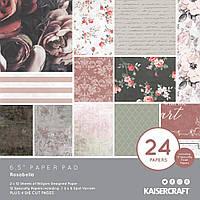 Набір одностороннього паперу - Rosabella - Kaiserkraft - 16.5х16.5