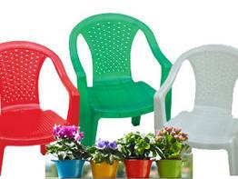 Крісло пластикове садове зі спинкою, 560х555х805мм, Од