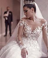Свадебное платье тонкие веточки