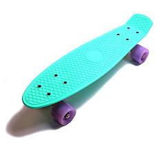 Penny Board. Бирюзовый цвет. Светящиеся колеса.