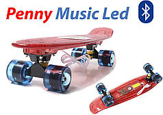 """Penny Board """"Light Music Led"""" Red"""