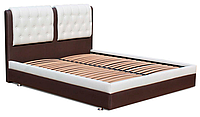 Кровать Garnitur.plus Скарлет коричнево-белая 140х200 см Gor-Skarlet-140, КОД: 182455