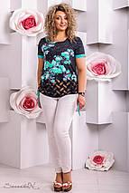 Женская короткая туника-футболка больших размеров (2278-2276 svt), фото 2