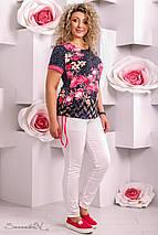 Женская короткая туника-футболка больших размеров (2278-2276 svt), фото 3