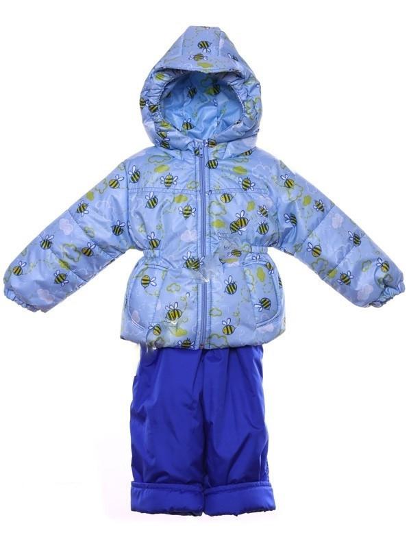 """Демисезонный костюм """"Кроха с кепкой"""" для мальчика (Голубые пчелки)"""