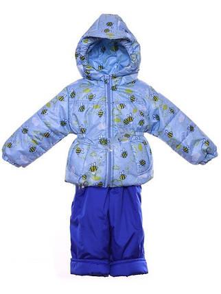 """Демисезонный костюм """"Кроха с кепкой"""" для мальчика (Голубые пчелки), фото 2"""