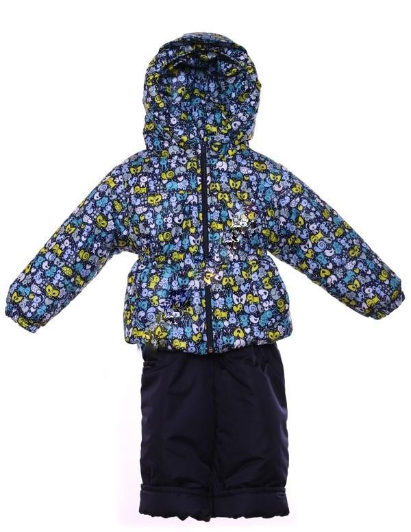 """Демисезонный костюм """"Кроха с кепкой"""" для мальчика (Синий зоопарк)"""