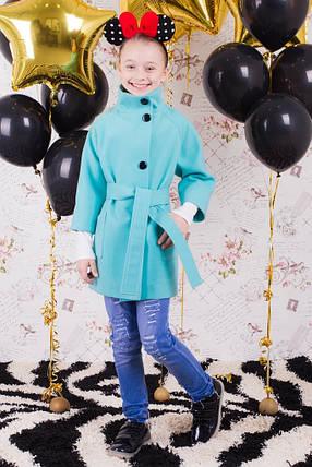 "Пальто для девочки ""Леди"" мята, фото 2"