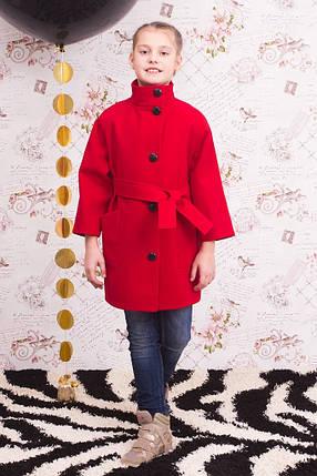 """Пальто для девочки """"Леди"""" красное, фото 2"""