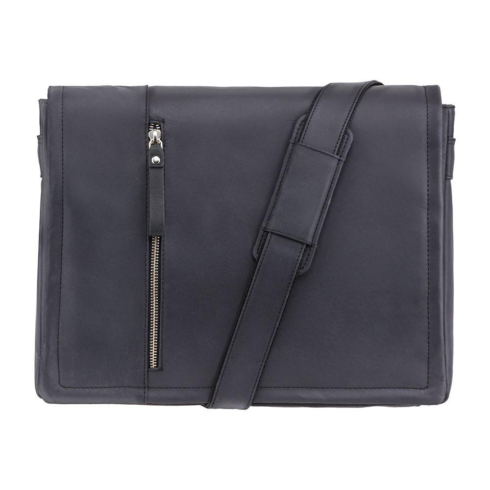 Вместительная сумка из матовой кожи Visconti 16072 oil black (Великобритания)