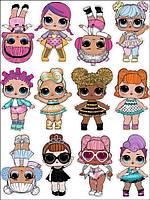 Куклы лол 13 Вафельная картинка