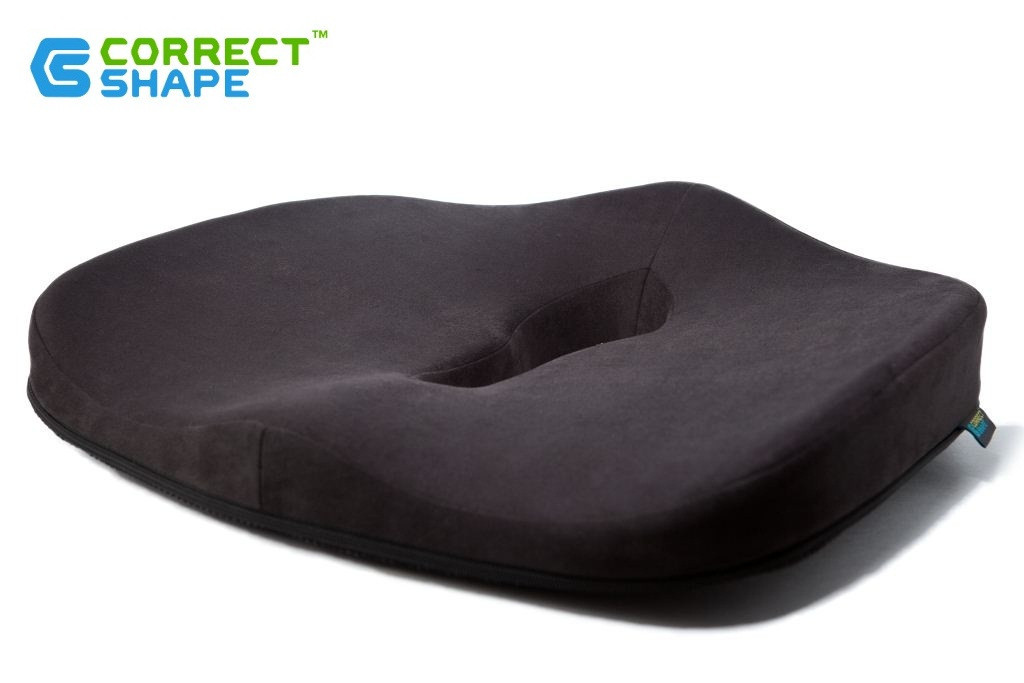 Ортопедическая подушка для сидения - Max Comfort, ТМ Correct Shape. Подушка от геморроя, простатита, подагры