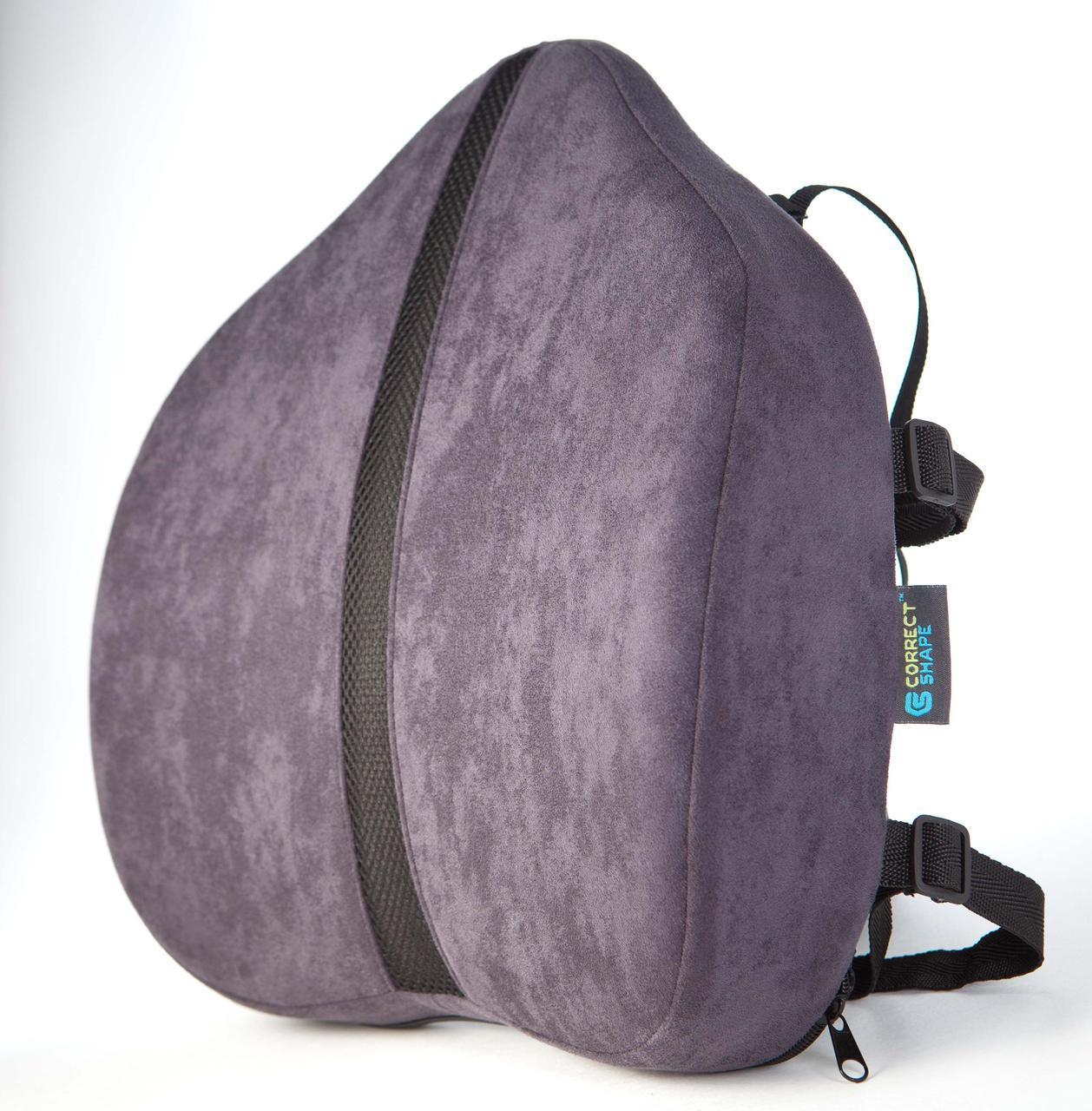 Подушка под поясницу - Сorrect Line Max, ТМ Correct Shape, цвет черный, синий