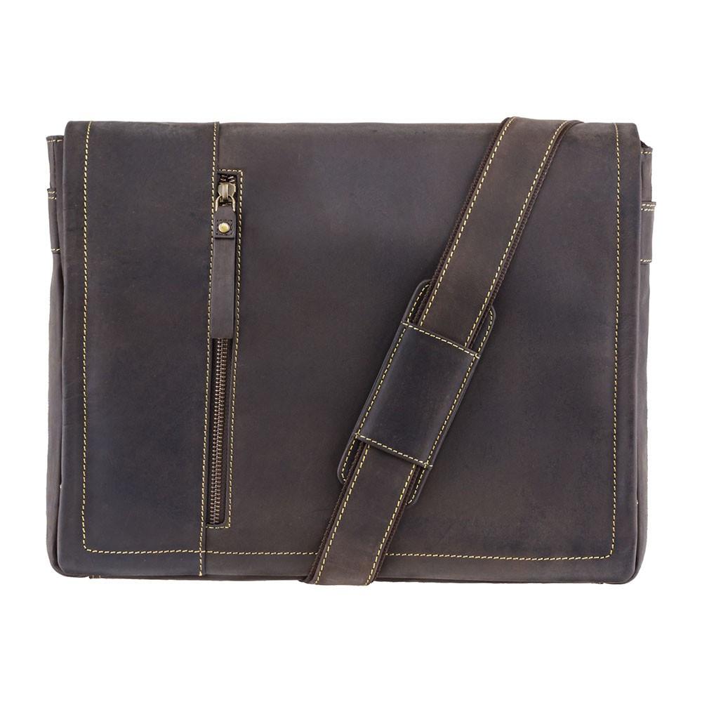 Вместительная сумка из матовой кожи Visconti 16072 oil brown (Великобритания)