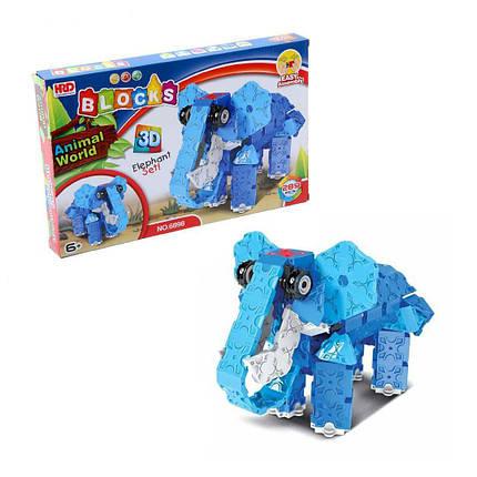 3D-конструктор Animal World - Слон, 289 деталей, фото 2