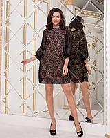 Платье масло+сетка (бло), фото 1