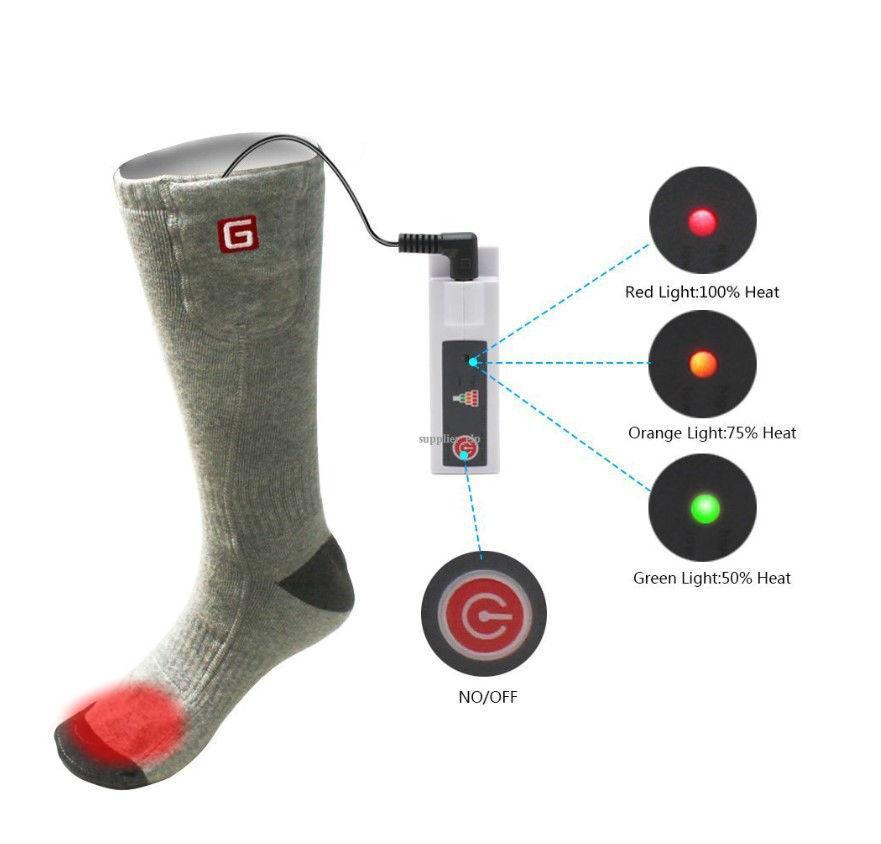 """Шкарпетки з підігрівом """"Eco-obogrev UP"""" 2200mAh з акумуляторами, 38― 45°C, обігрів над пальцями."""