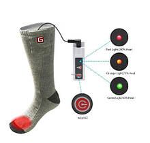 """Носки с подогревом """"Eco-obogrev UP"""" 2200mAh с аккумуляторами, 38― 45°C, обогрев над пальцами."""