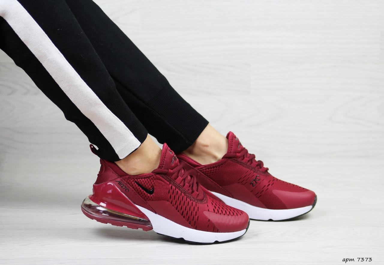 33738301 Купить Женские кроссовки Nike Air Max 270 (Бордовые) 40 в Киеве от ...