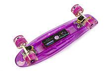 """Penny """"Fish Skateboard Original"""" Violet. Музыкальная и светящаяся дека!, фото 2"""