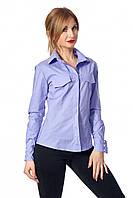 Лавандовая рубашка в классическом стиле