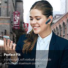 Беспроводная Bluetooth-гарнитура с микрофоном Hands-Free голубая, фото 3