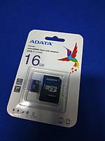 Micro Sd карта памяти 16Гб Adata ( class10 )