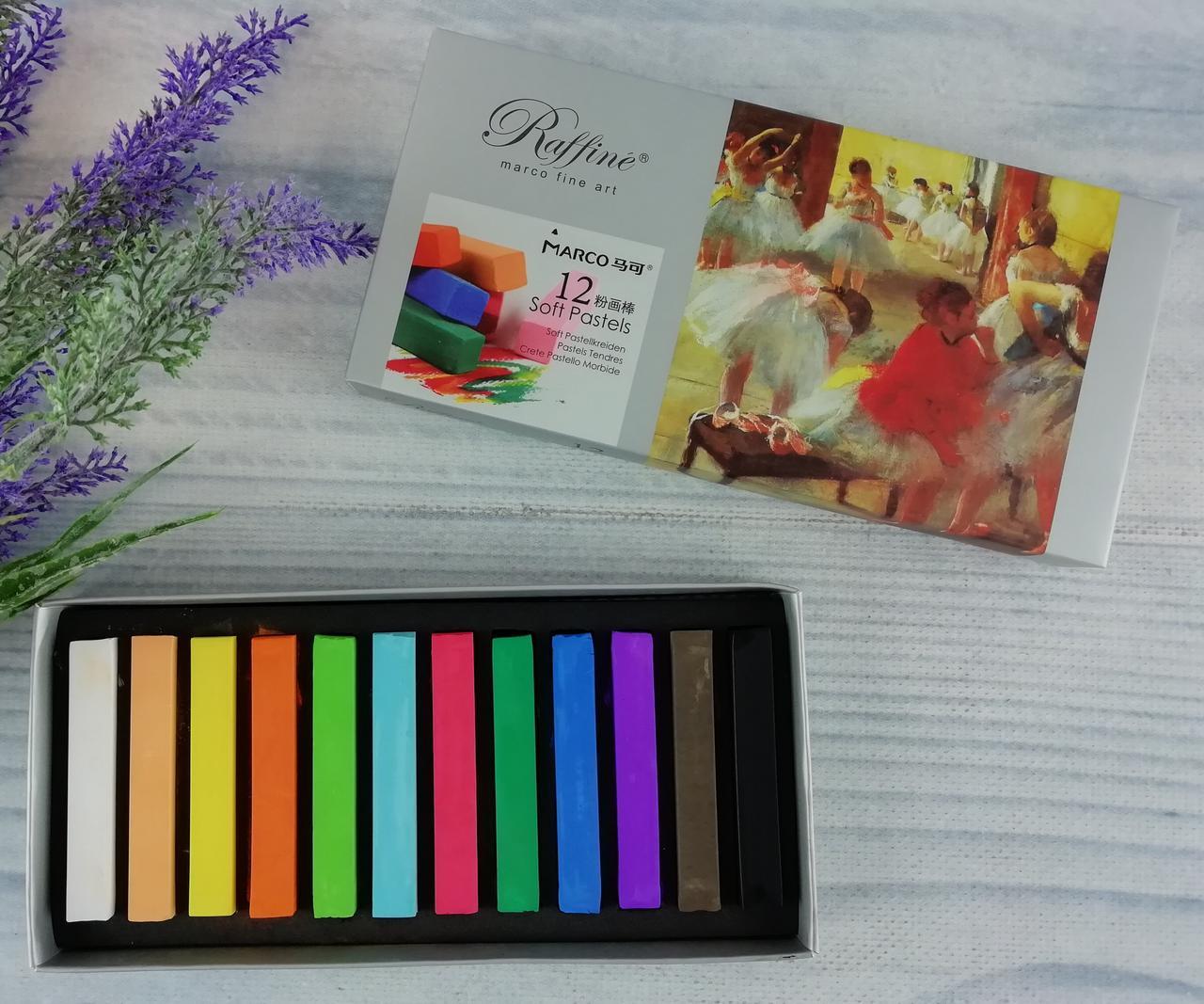 Пастель Raffine Soft Pastels 7300-12CB Marco